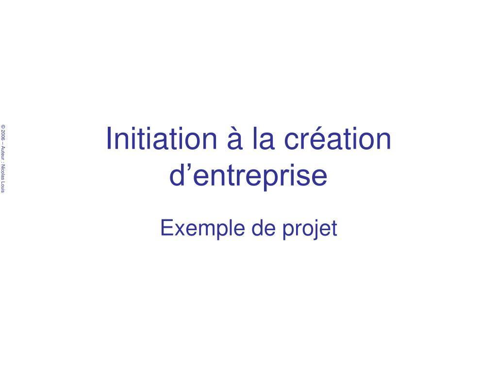 Ppt Initiation A La Creation D Entreprise Powerpoint