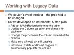 working with legacy data42