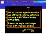 30 day mace meta analysis thrombectomy trials