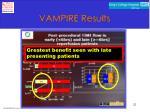 vampire results