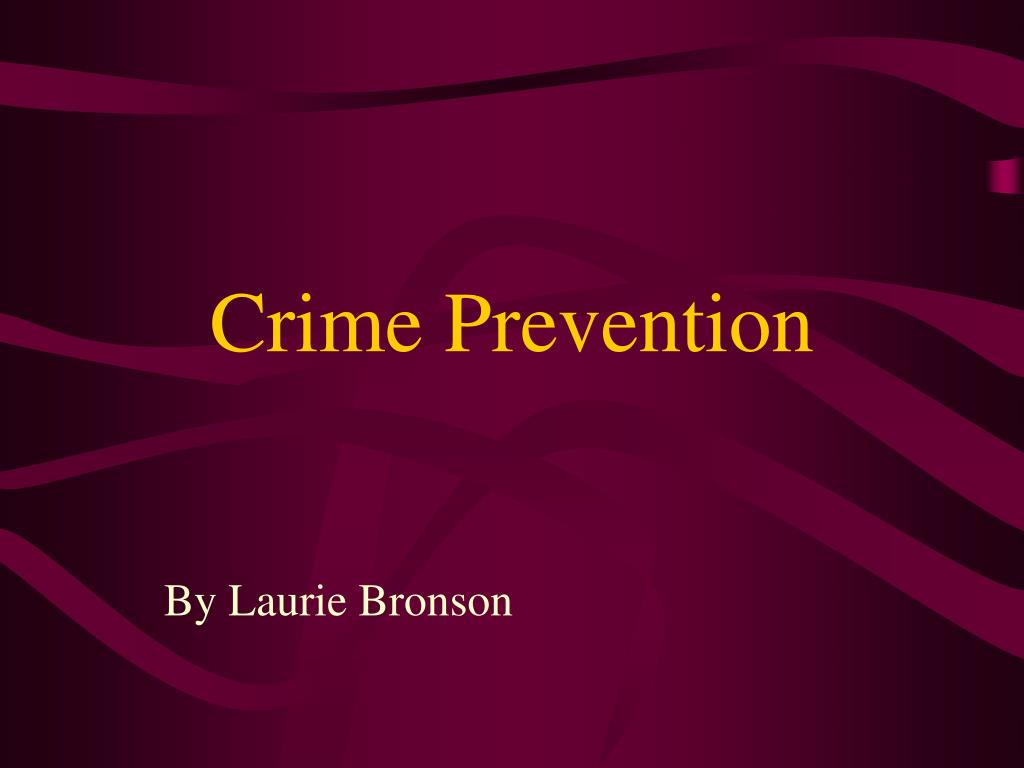 crime prevention l.