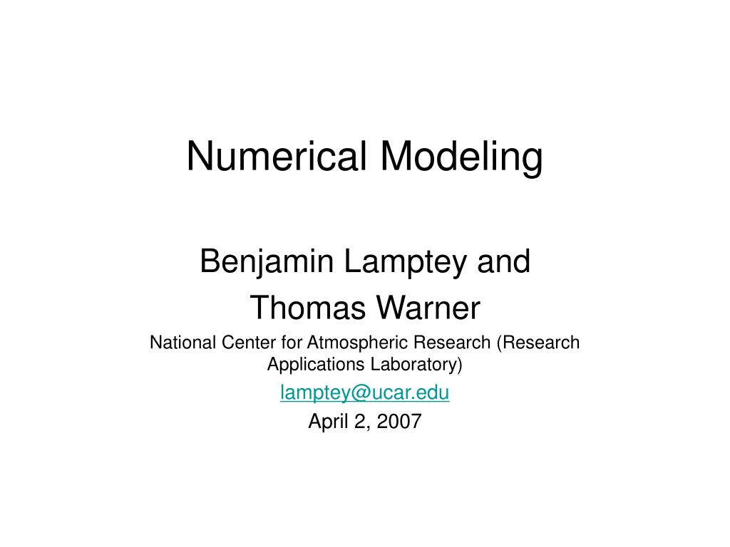numerical modeling l.