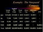 example the vanguard company14