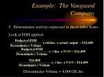 example the vanguard company20