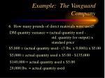 example the vanguard company21