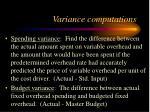 variance computations10