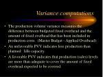 variance computations11