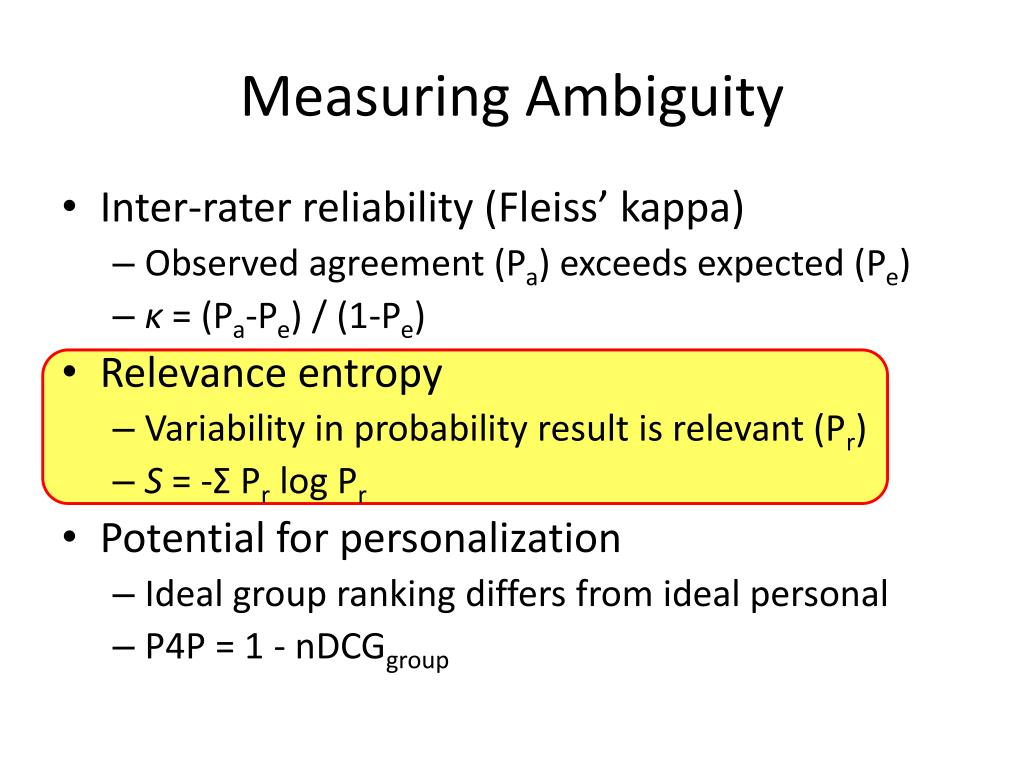 Measuring Ambiguity