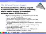 ibm software premium support