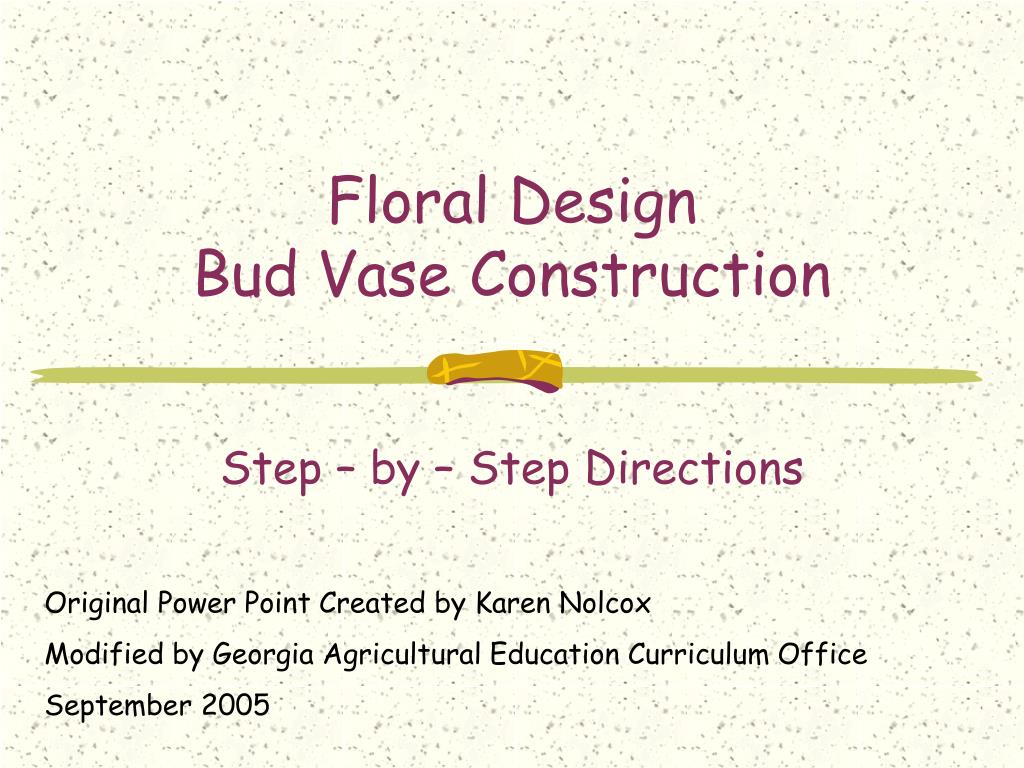 floral design bud vase construction l.