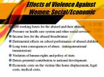effects of violence against women social economic
