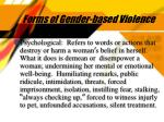 forms of gender based violence5