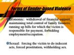 forms of gender based violence6