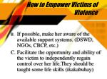 how to empower victims of violence24