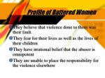 profile of battered women