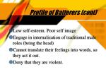 profile of batterers cont