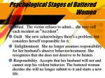psychological stages of battered women