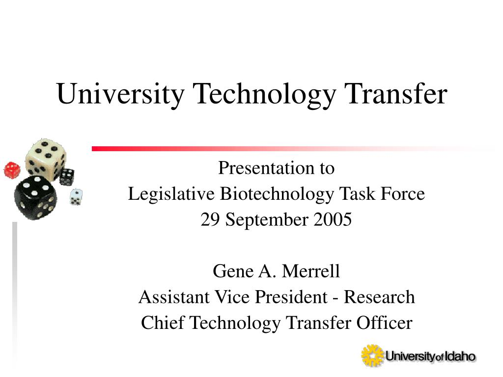 university technology transfer l.