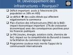 iii d veloppement des infrastructures pourquoi