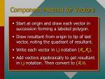 component method for vectors