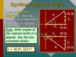 significant digits for angles