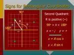 signs for rectangular coordinates27