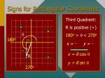 signs for rectangular coordinates28