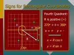 signs for rectangular coordinates29