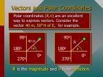vectors and polar coordinates