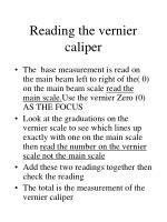 reading the vernier caliper