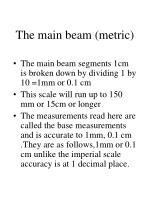 the main beam metric