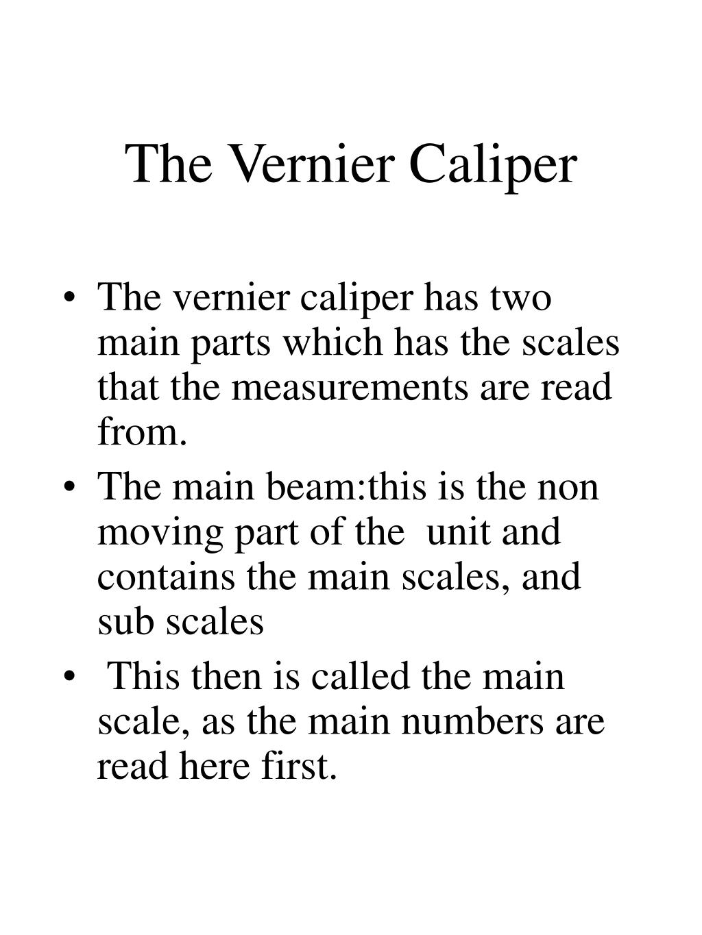 how to read vernier caliper in inches pdf