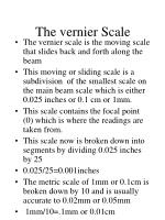 the vernier scale