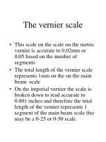 the vernier scale8