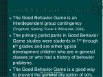 good behavior game concept