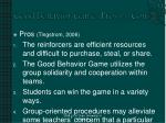 good behavior game pros vs cons