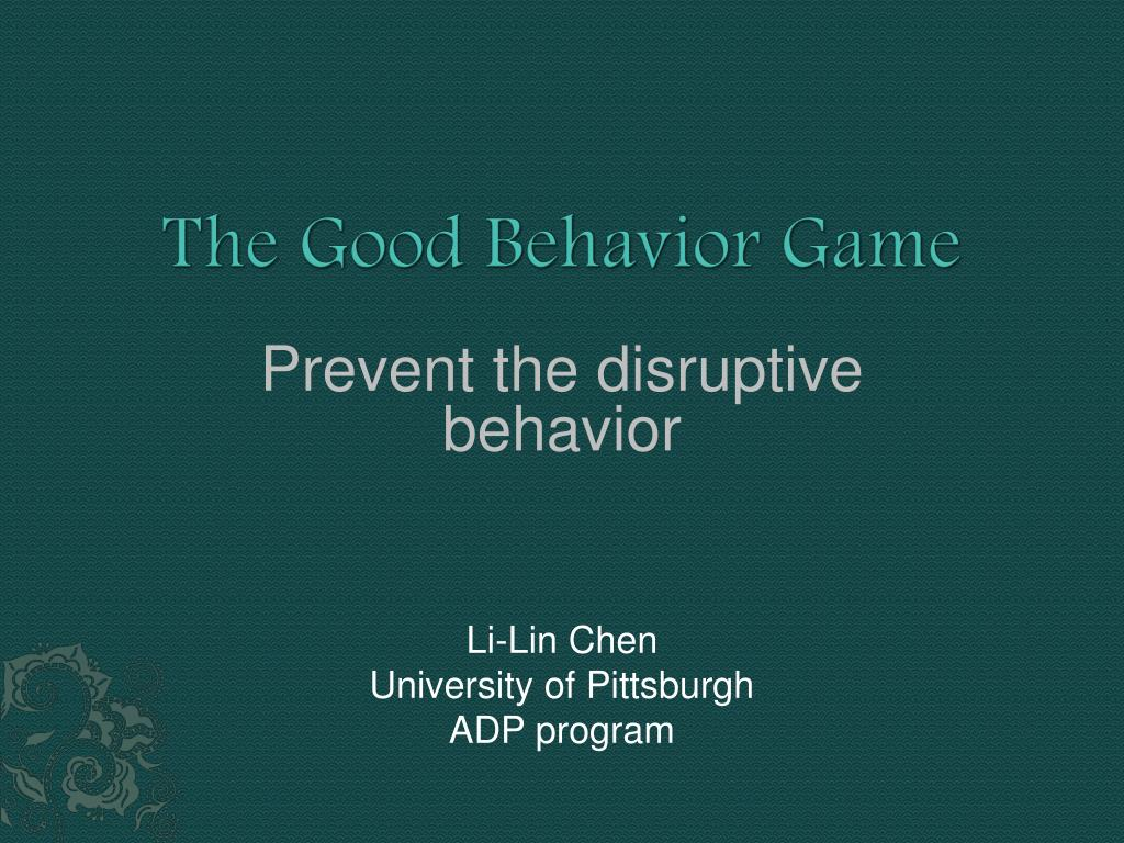 the good behavior game l.