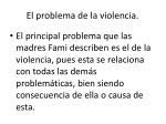 el problema de la violencia
