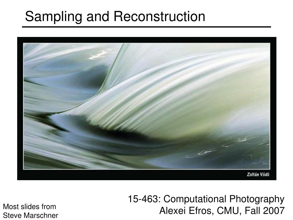 sampling and reconstruction l.