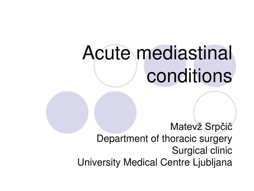 acute mediastinal conditions l.