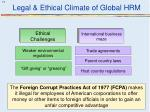 legal ethical climate of global hrm