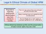 legal ethical climate of global hrm5