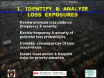 1 identify analyze loss exposures