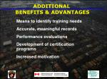 additional benefits advantages61