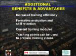 additional benefits advantages62