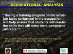 occupational analysis36