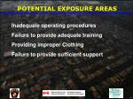 potential exposure areas