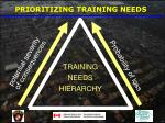 prioritizing training needs