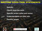 writing good task statements