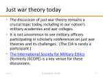 just war theory today